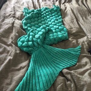 🌼Knitted mermaid blanket